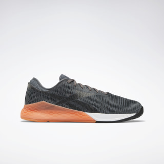 Reebok Nano 9 Men's Training Shoes Black / Cold Grey 6 / Fiery Orange DV6349