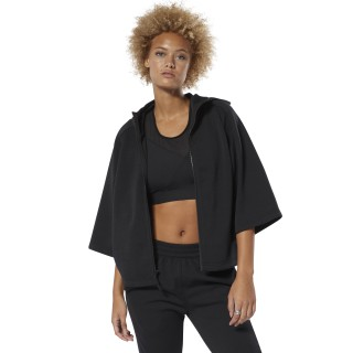 Sweat à capuche à zip intégral Training Supply Black DP5647