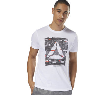 GS Glitch Delta Tee White DH3793