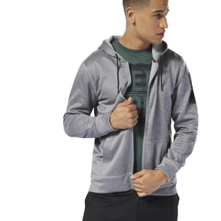 Jaqueta com Zíper Workout Ready Thermowarm medium grey heather D94229