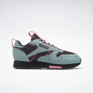 Кроссовки Reebok Classic Leather Ripple Trail Green Slate / True Grey 8 / Solar Pink EG5973