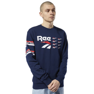 Classics All Over Vector Crew Collegiate Navy DY7858