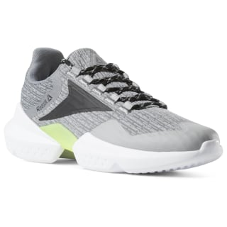 Reebok Split Fuel Shoes TRUE GREY / BLACK / LIME / WHITE CN7364