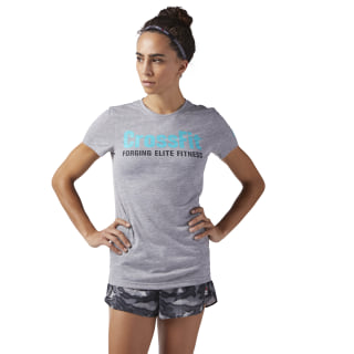 Allsidig CrossFit-tröja Medium Grey Heather / Solid Teal CF5766