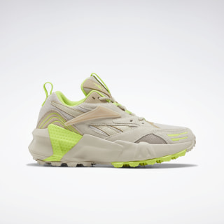 Aztrek Double Mix Trail Shoes Stucco / Modern Beige / Neon Lime EF9145