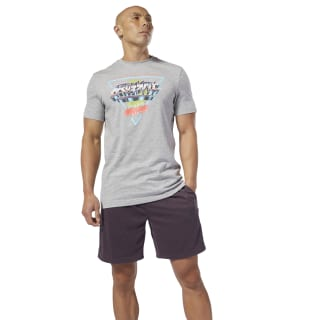 Reebok CrossFit® Neon Retro T-Shirt Medium Grey Heather DT2819