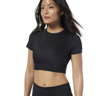 Studio Mesh Crop Top Black EB8077