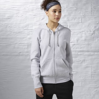 Women's global blank full-zip hoodie Grey AP6658