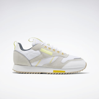 Classic Leather Ripple Trail Shoes White / Lemon Glow / Toxic Yellow EG6472