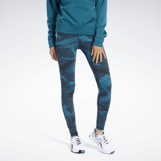 Legginsy Reebok Lux 2.0 - Geo Static Seaport Teal FK7067