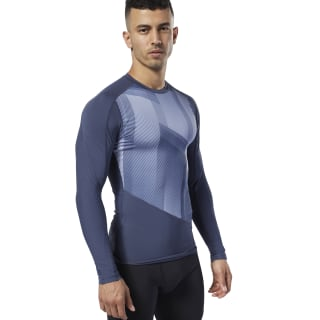 One Series Training Compression Shirt Heritage Navy EC0958
