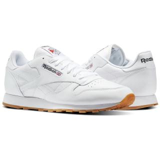 Classic Leather Men's Shoes White / Gum 49797