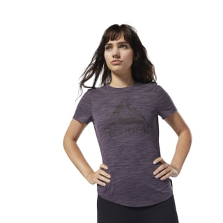 T-shirt Training Essential marbré avec logo Purple CY3599