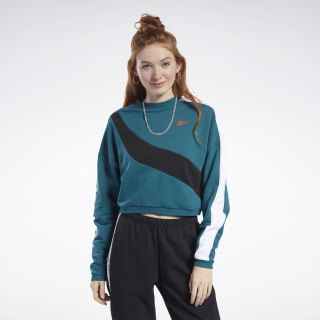 Bluza Meet You There Crew Heritage Teal FK6763