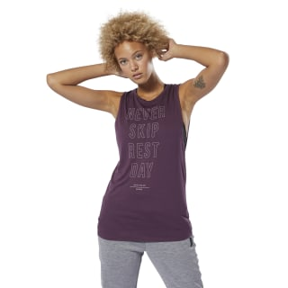 Training Supply Graphic Muscle Tanktop Urban Violet DU4074