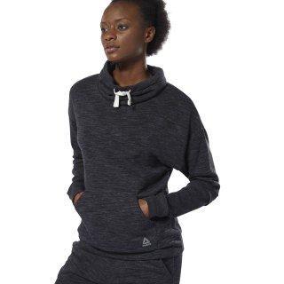 Sudadera Reebok Training Essentials Cowl Neck Black DU4910