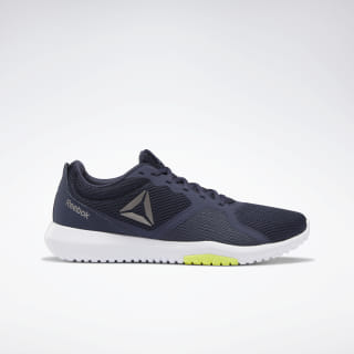 Reebok Flexagon Force Shoes Heritage Navy / Solar Yellow / White DV6204