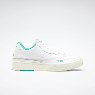 Dual Court Shoes White / Chalk / Emerald EG6016