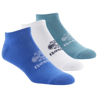 Classics Foundation No-Show Socks 3 Pairs White / Mineral Mist / Crushed Cobalt DU7455