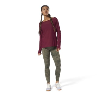 Reebok CrossFit Jacquard Long Sleeve Rustic Wine D94917