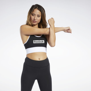 Training Essentials Linear Logo Bralette Black FK6713