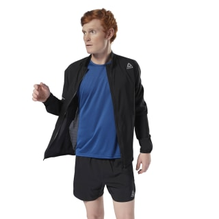 Campera Running Woven BLACK CY4705