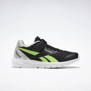 Reebok Rush Runner 2.0 Shoes Black / Silver Metallic / Solar Green EF3168