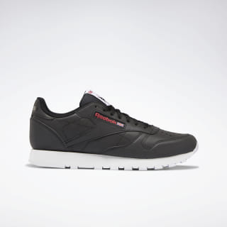 Classic Leather Shoes Black / White / Red DV8516