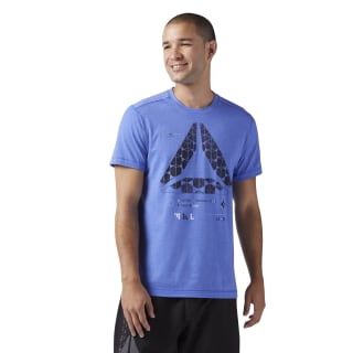 T-shirt Speedwick Graphic Acid Blue CF8038