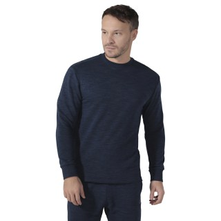 Training Essentials Marble Group Crew Sweatshirt Collegiate Navy DU3776