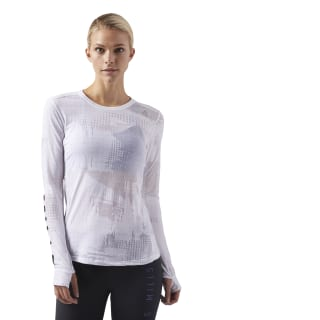 LES MILLS® Long Sleeve Top White CD6201