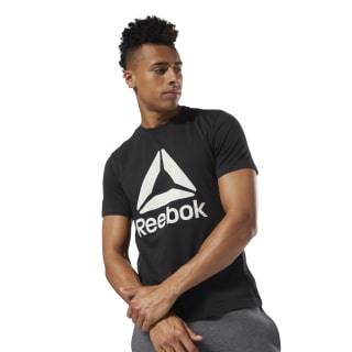 Remera  QQR- Reebok Stacked black/white DH3757