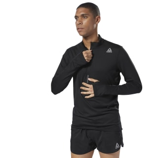 Running Quarter Zip Black D92924