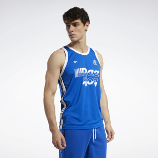 Meet You There Basketball Tank Top Humble Blue FK6156