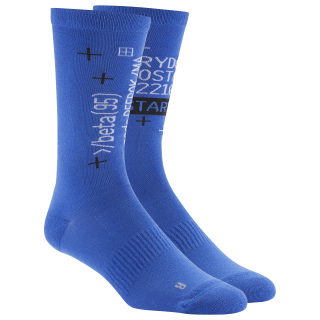 Active Enhanced Crew Socks Crushed Cobalt DU3025