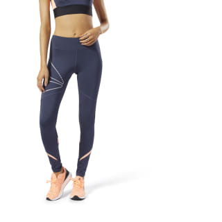 One Series Running Delta Tights Heritage Navy DY8245