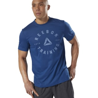 GRAPHIC TEE SHORT SLEEVE GS Training Speedwick Tee bunker blue DH3741