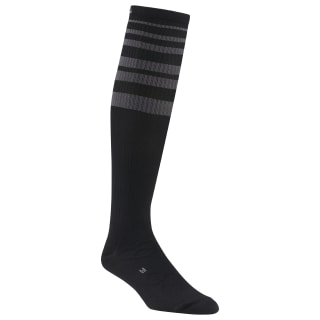 Reebok Delta Knee High Compression Sock - 1 Pack Black CL5150