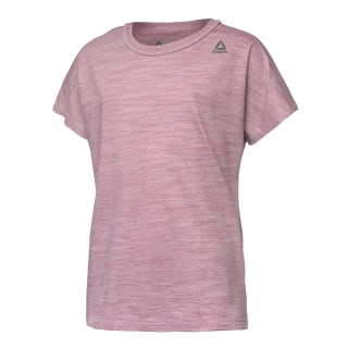 Girls Elements Marble Melange T-Shirt Twisted Berry DH4360