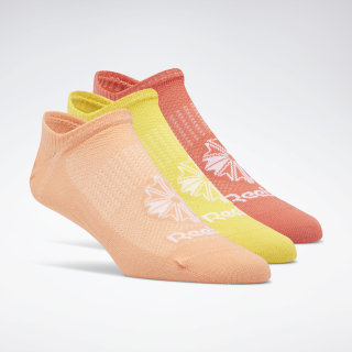 Classic Footwear Invisible Sock - 3Pack Rosette / Sunglow / Toxic Yellow EC8568