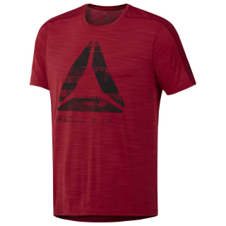 ACTIVCHILL Graphic Move Tee Cranberry Red D93803