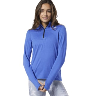 Maglia Running Essentials Quarter-Zip Crushed Cobalt DW5251
