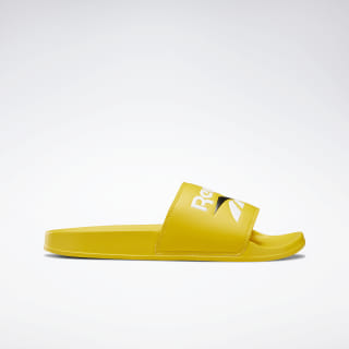 Reebok Classic Slippers Toxic Yellow / White / Black DV9405