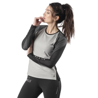 LES MILLS® SmartVent Shirt Mgh Solid Grey EB4093