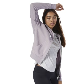 Felpa Training Essentials Marble Logo Full Zip Lavender Luck D95532