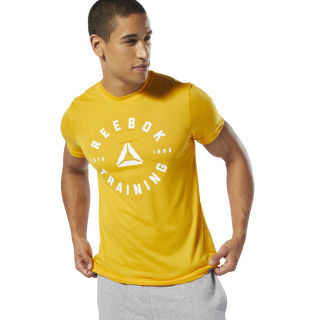 GS Training Speedwick Tee Semi Solar Gold DU4652