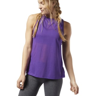 One Series Burnout Tank Top Regal Purple EC1171