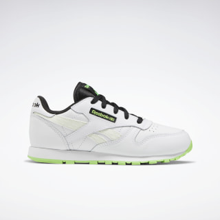 Classic Leather Shoes White / Solar Green / Black EH1892