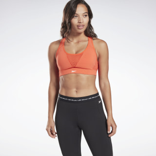 LES MILLS® Medium Impact Hero Bra Vivid Orange FM7128