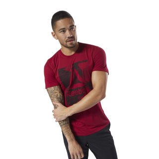 Workout Ready Supremium Graphic Tee Cranberry Red D94258